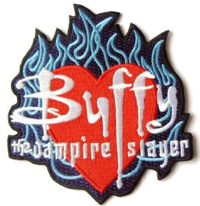 Buffy The Vampire Slayer Embroidered Flames Logo PATCH